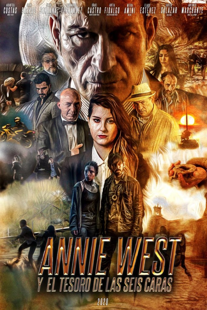 Cartel Annie West y el tesoro de las seis caras
